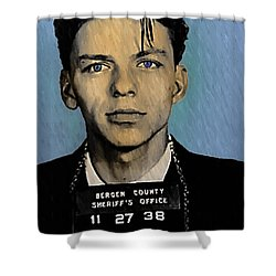 Old Blue Eyes - Frank Sinatra Shower Curtain by Bill Cannon