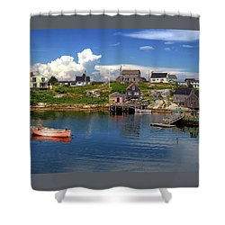 Shower Curtain featuring the photograph Old Boat At Peggy's Cove by Rodney Campbell