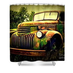 Old Flatbed 2 Shower Curtain by Perry Webster