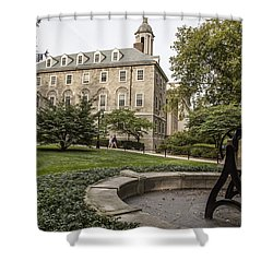 Old Main Penn State Bell  Shower Curtain by John McGraw
