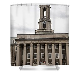 Old Main Penn State From Front  Shower Curtain by John McGraw