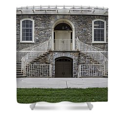 Old Main Penn State Stairs  Shower Curtain by John McGraw