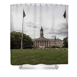 Old Main Penn State Wide Shot  Shower Curtain by John McGraw