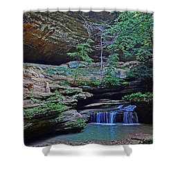 Shower Curtain featuring the photograph Old Man's Cave by Rodney Campbell