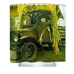 Old Model T  Shower Curtain by Jeff Swan