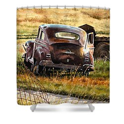 Old Plymouth Shower Curtain by Tom Hedderich