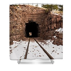 Old Railroad Tunnel Shower Curtain by Sue Smith
