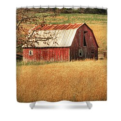Old Red Barn Shower Curtain by Tamyra Ayles