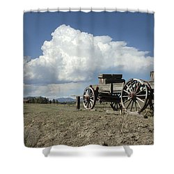 Old Wagon Out West Shower Curtain by Jerry McElroy