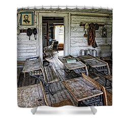 Oldest School House C. 1863 - Montana Territory Shower Curtain by Daniel Hagerman