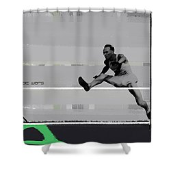 Olympic Wars Shower Curtain by Naxart Studio