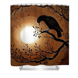 Ominous Bird Of Yore Shower Curtain by Laura Iverson