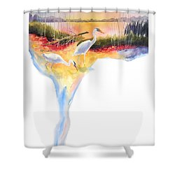 On Fire Shower Curtain by Kathy Braud