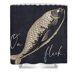 On Fleek Shower Curtain by Mindy Sommers