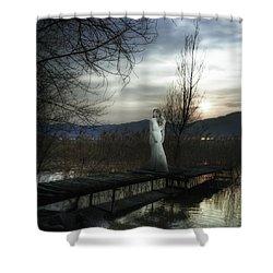 On The Bridge Shower Curtain by Joana Kruse