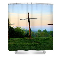 On The Hill Shower Curtain by Cricket Hackmann