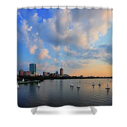 On The River Shower Curtain by Rick Berk