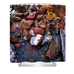 On The Rocks Shower Curtain by Christopher Holmes