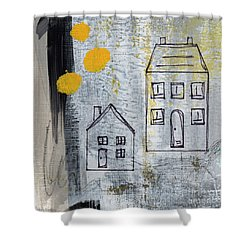 On The Same Street Shower Curtain by Linda Woods