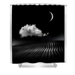 One Cloud Shower Curtain by Mal Bray