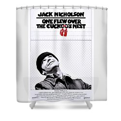 One Flew Over The Cuckoo's Nest Shower Curtain by Movie Poster Prints