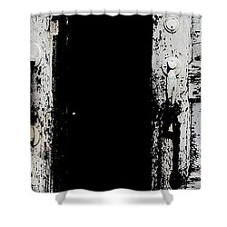 One Last Look Inside Shower Curtain by Ed Smith