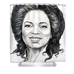 Oprah Winfrey  Shower Curtain by Murphy Elliott