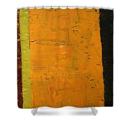 Orange And Brown Shower Curtain by Michelle Calkins