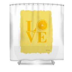Orange Shower Curtain by Mark Rogan