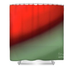 Orange Red Green Shower Curtain by CML Brown