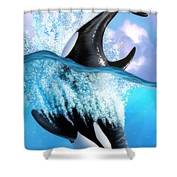 Orca 2 Shower Curtain by Jerry LoFaro