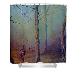 Orcs Of The White Hand Tolkien The Lord Of The Rings Inspired Art Shower Curtain by Joe  Gilronan