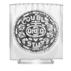 Oreo In Negetive Shower Curtain by Rob Hans