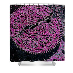 Oreo In Pink Shower Curtain by Nancy Mueller