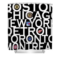 Original Six Shower Curtain by Andrew Fare