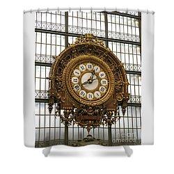 Ornate Orsay Clock Shower Curtain by Ann Horn