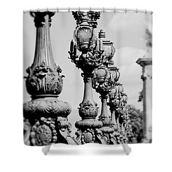 Ornate Paris Street Lamp Shower Curtain by Ivy Ho