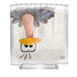 Ostrich Shower Curtain by David Breeding