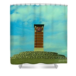 Oklahoma State University Gateway To Osu Tulsa Campus Shower Curtain by Janette Boyd