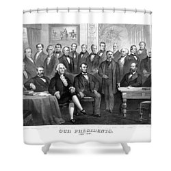 Our Presidents 1789-1881 Shower Curtain by War Is Hell Store