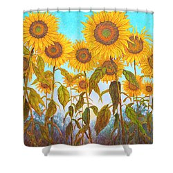 Ovation Sunflowers Shower Curtain by Wiley Purkey