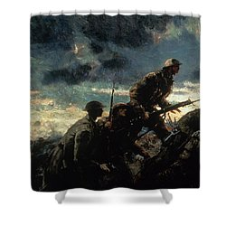 Over The Top Shower Curtain by Alfred Bastien