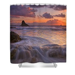 Overcome Shower Curtain by Mike  Dawson