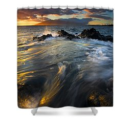Overflow Shower Curtain by Mike  Dawson