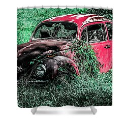 Overgrown Bug Shower Curtain by Jeremy Rickman