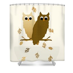 Owls Pattern Art Shower Curtain by Christina Rollo