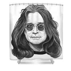Ozzy Osbourne Shower Curtain by Murphy Elliott