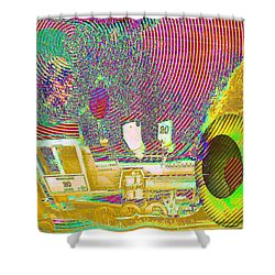 Ozzy's Crazy Train   Shower Curtain by Jeff Swan