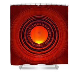 Pacific Beach Pier Sunset - Abstract Shower Curtain by Peter Tellone