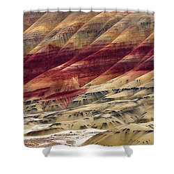 Painted Hills Contour Shower Curtain by Mike  Dawson